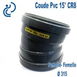 Coude pvc CR8 15° D315 FF