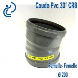 Coude pvc CR8 30° D200 FF