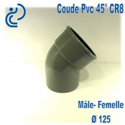 Coude pvc CR8 45° D125 MF