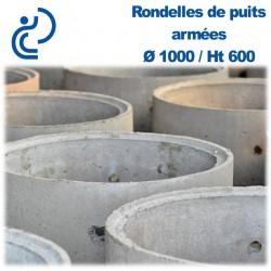 Rondelle de Puits béton armée empilable D1000 Ht600