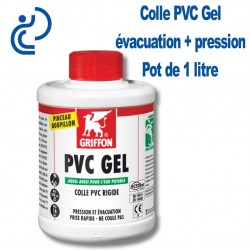 Colle PVC Gel Haute Performance Pot de 1 litre + pinceau goupillon