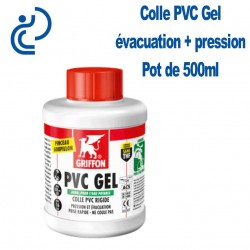 Colle PVC Gel Haute Performance Pot de 500ml + pinceau