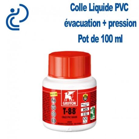 Colle Liquide pour PVC rigide Haute Performance Pot de 100ml + pinceau