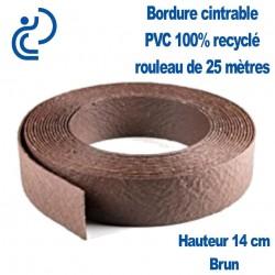 Bordure de Jardin Ton Brun Cintrable H14cm PVC 100% recyclé (rouleau de 25ml)