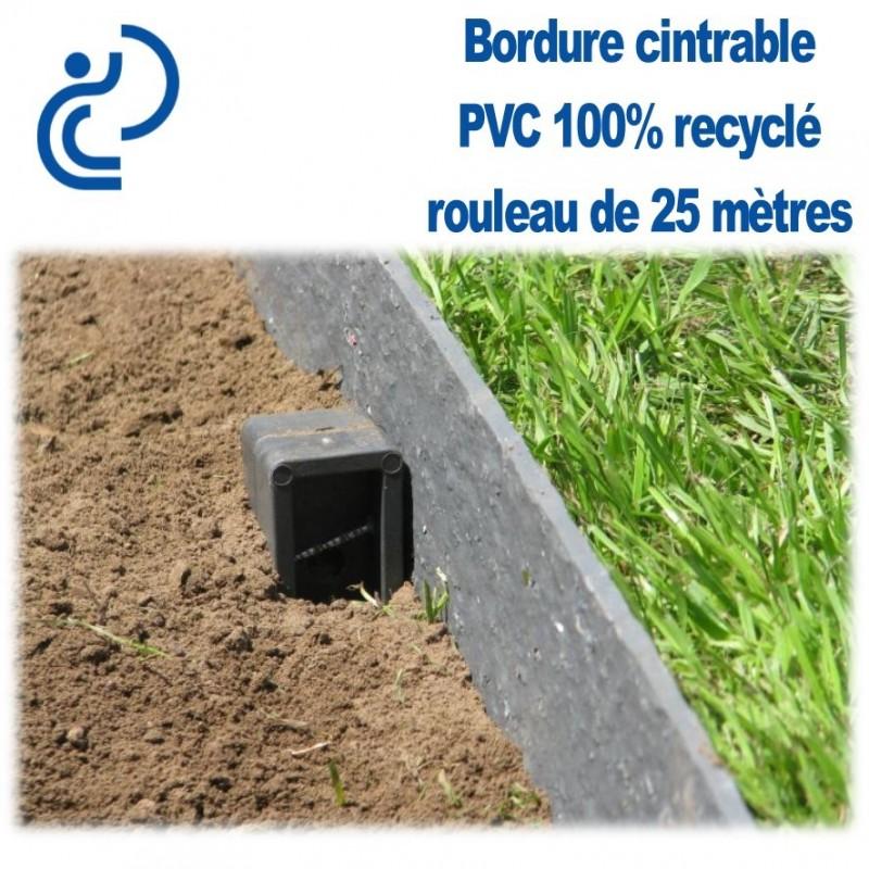 Piquet Brun en H pour Bordure de Jardin PVC 100% recyclé (l ...