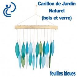Carillon de Jardin Naturel Feuilles Bleues
