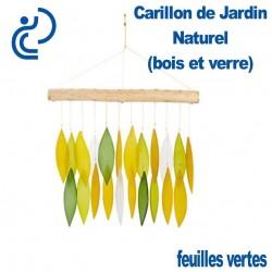 Carillon de Jardin Naturel Feuilles Vertes