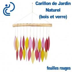 Carillon de Jardin Naturel Feuilles Rouges