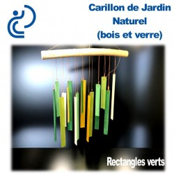 Carillon de Jardin Naturel Rectangles Verts