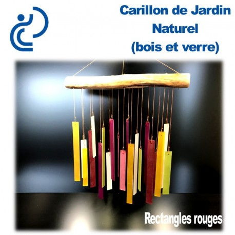 Carillon de Jardin Naturel Rectangles Rouges