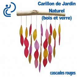Carillon de Jardin Naturel Cascades Rouges