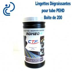 Lingettes Dégraissantes pour Tube PEHD ROMEO+ (boîte de 200)