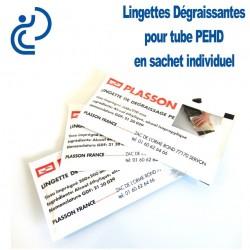 Lingettes Dégraissantes pour Tube PEHD (sachet individuel)