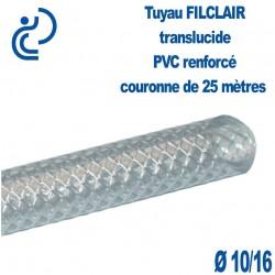 Tuyau FILCLAIR souple et renforcé D10x16 couronne de 25ml