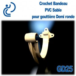 CROCHET BANDEAU PVC SABLE POUR GOUTTIERE GD25