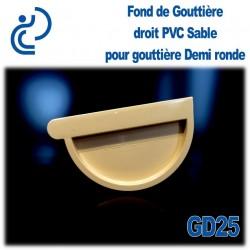 FOND DE GOUTTIERE DROIT EN PVC SABLE POUR GD25