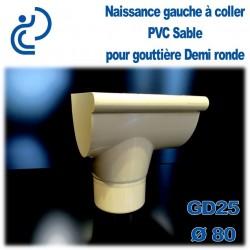NAISSANCE GAUCHE A COLLER EN PVC SABLE POUR GD25