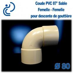 COUDE GOUTTIERE PVC SABLE 87° FF D80