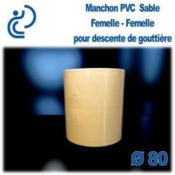 MANCHON GOUTTIERE PVC SABLE FF D80