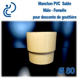 MANCHON GOUTTIERE PVC SABLE MF D80
