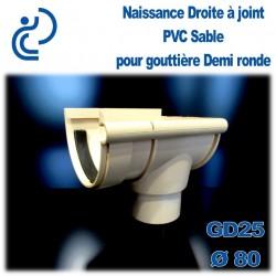 NAISSANCE DROITE A JOINT EN PVC SABLE POUR GD25