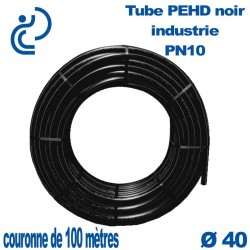 Tube PEHD noir industrie PN10 D40 couronne de 100ml