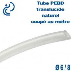 Tube PEBD translucide naturel D6x8 coupé au mètre