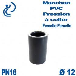 Manchon PVC Pression D12 PN16 à coller