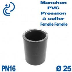 Manchon PVC Pression D25 PN16 à coller