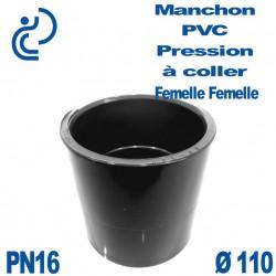Manchon PVC Pression D110 PN16 à coller