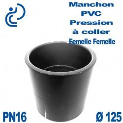 Manchon PVC Pression D125 PN16 à coller