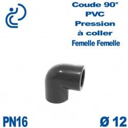 Coude 90° PVC Pression D12 PN16 à coller