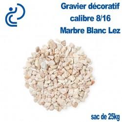 GRAVIER MARBRE BLANC LEZ 8/16 sac de 25kg