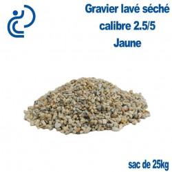 Gravier Concassé Lavé Séché Marbre Jaune 2.5/5 sac de 25kg