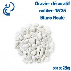 Gravier Roulé Marbre Blanc 15/25 sac de 25kg