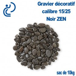 Gravier Roulé Noir ZEN 15/25 sac de 10kg
