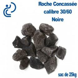 Roche Concassée Noire 30/60 en sac de 25 Kg