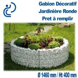 GABION DECORATIF JARDINIERE RONDE 146X40CM