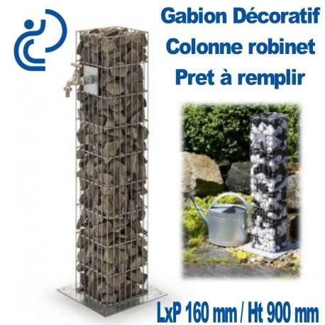 GABION DECORATIF COLONNE ROBINET 16x16x90