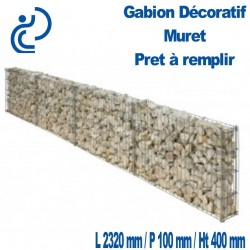 Gabion décoratif Muret 232x10x40