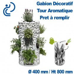 GABION DECORATIF TOUR AROMATIQUE 400/260x800