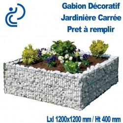 GABION DECORATIF JARDINIERE CARREE 120X120X40