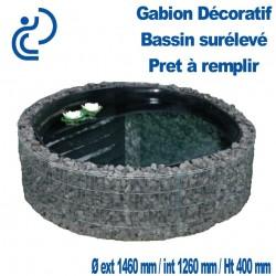 GABION DÉCORATIF BASSIN SURÉLEVÉ 1460x400mm