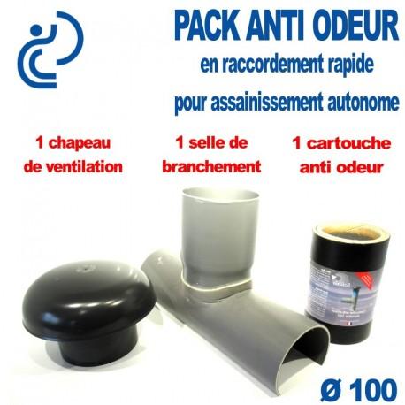 PACK ANTI ODEUR D100 Branchement rapide pour assainissement