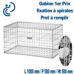GABION 1ER PRIX A SPIRALES 100X50X50