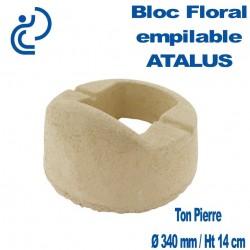Bloc Floral Empilable ATALUS 18 en Béton ton pierre (sable)