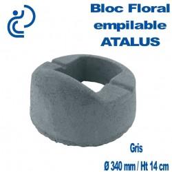 Bloc Floral Empilable ATALUS 18 en Béton Gris