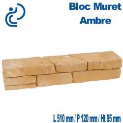 Bloc Muret Ambre 51x12x9.5cm