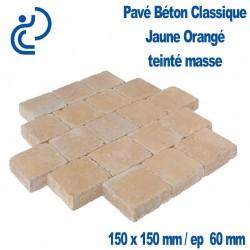 PAVE BETON CLASSIQUE 15X15 ep6 JAUNE ORANGE