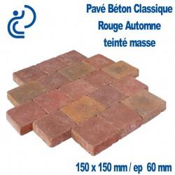 PAVE BETON CLASSIQUE 15X15 rouge automne